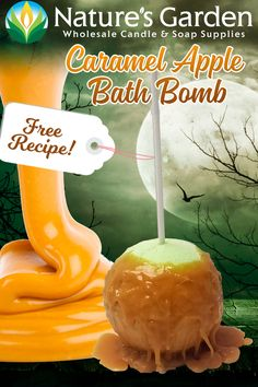 Free Caramel Apple Bath Bomb Recipe by Natures Garden.