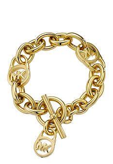 Michael Kors Jewelry Logo Lock Charm Bracelet. For @Whitney Clark Clark Clark Clark Ebejer, to go with your watch!