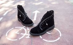 Biker Boots, Combat Boots, Booty, Collection, Shoes, Black, Fashion, Moda, Swag