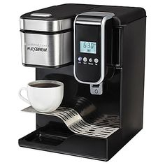 image of Hamilton Beach® FlexBrew® Programmable Single-Serve Coffeemaker with Hot Water Dispenser