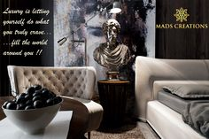 #Luxury is letting  yourself do what  you truly crave... ...fill the world  around you !! #Homedecor #Luxuryfurniture ☞ http://madscreations.in/