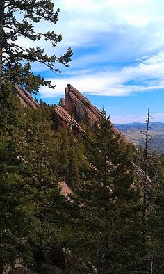 The lovely Flatirons, in Boulder Colorado. This view was seen from the Royal Arch Trail.