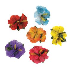 Hibiscus Clips - OrientalTrading.com- so I think we should do the word game... But with something not Mardi gras beads or clothes pins...