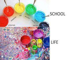 SCHOOL VS REAL LIFE