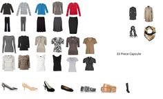 Minimalist Capsule Wardrobe: Capsule 1: 33 Pieces (300 Outfits)