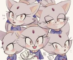 Blazes expressions by freedomfightersonic on DeviantArt