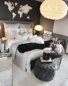 Undefined Bedrooms In 2019 Bedroom Decor Room Decor Bedroom Dream Rooms, Dream Bedroom, Room Decor Bedroom, Girls Bedroom, Bedroom Ideas, Rooms To Go Bedroom, Master Bedroom, Bedroom Table, Bedroom Designs