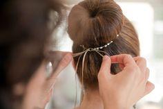 bailarina bun #wedding #hair maybe for flower girl