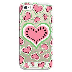 Watermelon Love...Transparent/Clear Background - iPhone 7 Case, iPhone... ($40) ❤ liked on Polyvore featuring accessories, tech accessories, phone, phone cases, tech, iphone case, transparent iphone case, clear iphone cases, iphone cover case and iphone cases