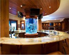 Lovely Aquarium Setting in a Circular Kitchen Island! Astonishing!!_ Masterpiece-concept