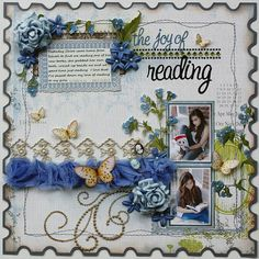 """Layout made with the new Websters Pages """"All About Me' collection by design team member Gabrielle Pollacco."""