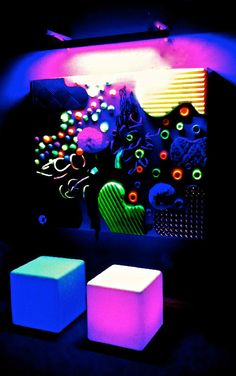 This is the sensory room... a soothing, quiet room, that is also very interactive!