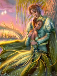Tiana and Naveen - disney-princess fan art