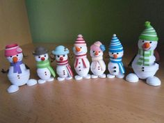 3D Quilled Snowman families by Simona Elina