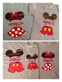 Disney world family shirts by Tsays on Etsy