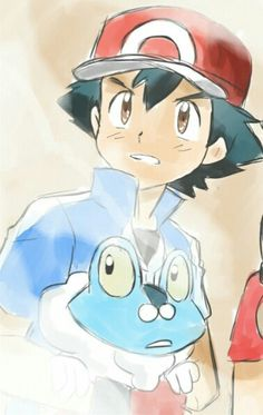 Ash and his Froakie