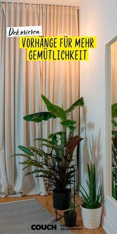 Ob klassisch vor dem Fenster, als Raumtrenner oder als Baldachin am Bett: Vorhänge bringen Gemütlichkeit. Foto: Saltplusbread