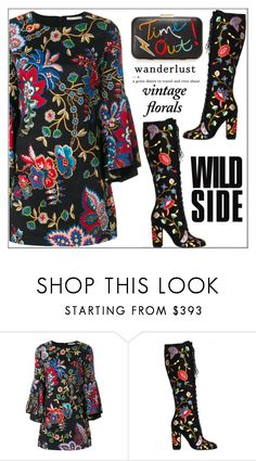 """""""Smell the Roses: Vintage Florals"""" by shoaleh-nia ❤ liked on Polyvore featuring Alice + Olivia, Mason's and vintage"""