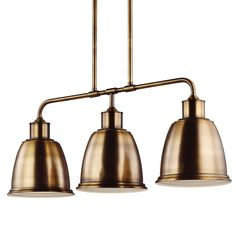 Buy the Feiss Aged Brass Direct. Shop for the Feiss Aged Brass Hobson 3 Light 1 Tier Linear Chandelier and save. Linear Pendant Lighting, 3 Light Pendant, Industrial Lighting, Kitchen Lighting, 3 Light Chandelier, Linear Chandelier, Lighting Concepts, Lighting Design, Lighting Ideas