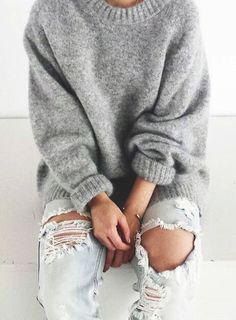 oversized sweater & boyfriend jeans
