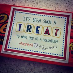 the teacher wife: YUMMY {& easy} parent volunteer gift!