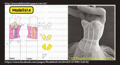 ModelistA: Corset Pattern Making Sewing Patterns Free, Sewing Tutorials, Clothing Patterns, Dress Patterns, Free Pattern, Fashion Sewing, Diy Fashion, Sewing Clothes, Diy Clothes