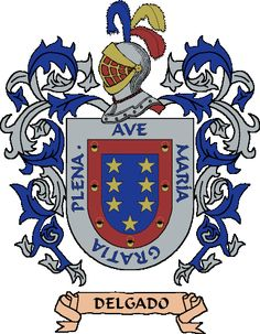 Apellido Delgado Armadura Medieval, Family Crest, Crests, Coat Of Arms, Porsche Logo, Beetle, Unicorn, Mexico, Cuba