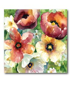 This Bunches of Flowers I Wrapped Canvas is perfect! #zulilyfinds