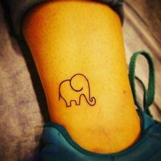 """Mmahmut""...my first. My elephant..little tattoo"