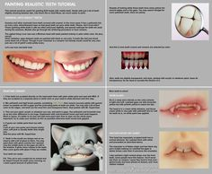 Painting realistic teeth tutorial by ~scargeear on deviantART