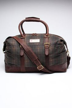 The British Belt Company Balderstone Holdall:: English waxed and stunning!