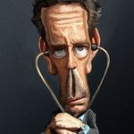 House Caricature by Caricaturas, tagged dr, house, caricature - Category Famous People - rated / Funny Caricatures, Celebrity Caricatures, Celebrity Drawings, Cinema Tv, House Md, Hugh Laurie, Halloween Illustration, Caricature Drawing, Funny Faces