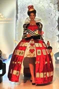 Fantastic Queen of Hearts half hoop skirt