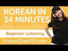 34 Minutes of Korean Listening Comprehension for Beginner - YouTube