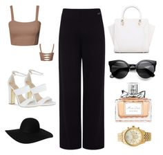 Out by celine-o on Polyvore featuring polyvore, fashion, style, Pink Tartan, Carvela, Michael Kors, Monki and Christian Dior