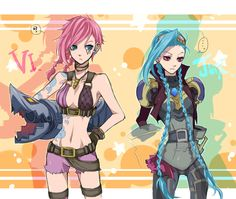 Jinx in Vi's clothes and Vi in Jinx's clothes. That's a skin I want!