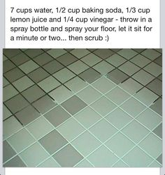 Clean grout...have to try