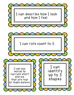 """1000+ images about """"I Can"""" statements for preschool on ..."""