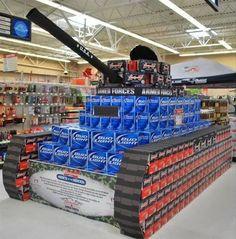 Beer display of tank