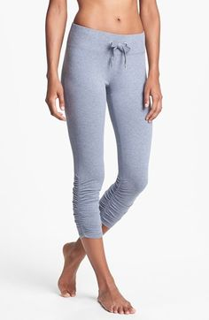Zella 'Flow' Ruched Capri Leggings available at #Nordstrom