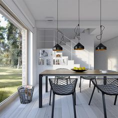 Projekt domu Dostępny 4A 139,6 m2 - koszt budowy - EXTRADOM Home Office Design, House Design, Kitchen Dining, Dining Table, Facade House, Home Renovation, Planer, House Plans, Ceiling Lights