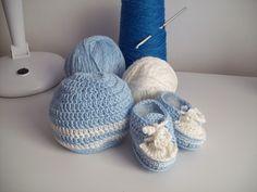 crochet hat - shoes