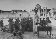 Celebrating Mass in the Philippines during WWII.