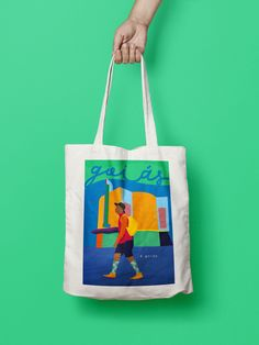 goiás é goiás on Behance Painted Canvas Bags, Canvas Tote Bags, Jute Bags, Fabric Bags, Shopper Bag, Cotton Bag, Cloth Bags, Bag Making, Reusable Tote Bags