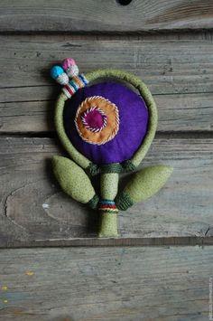 Купить Под серым небом декабря текстильные броши - комбинированный, украшение, брошь, из ткани, текстиль
