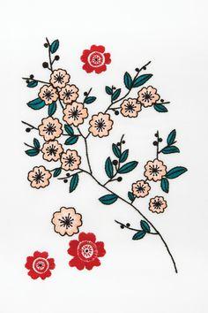 Hello Japan Fleurs de Cerisiers - Motif