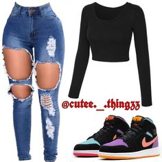 Swag Outfits For Girls, Boujee Outfits, Cute Swag Outfits, Teenage Girl Outfits, Cute Comfy Outfits, Teen Fashion Outfits, Pretty Outfits, Simple Outfits For School, Fitness