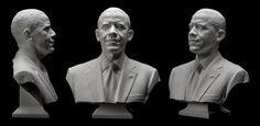 Así se hizo el busto oficial de Barack Obama en 3D