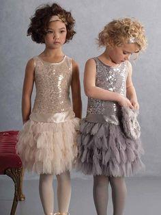 Biscotti Gold Sequins Dress