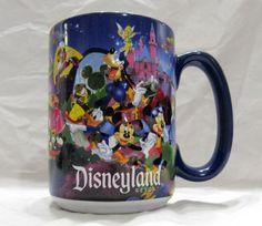 Disneyland Resort Disney Parks Multi Character Large Blue Coffee Mug Cup 16 oz #DisneylandParks